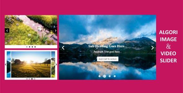 Algori Image and Video Slider Pro for WordPress Gutenberg