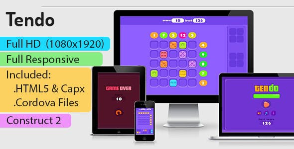 Tendo - HTML5 Game (Construct 2 | Capx) - Puzzle Game