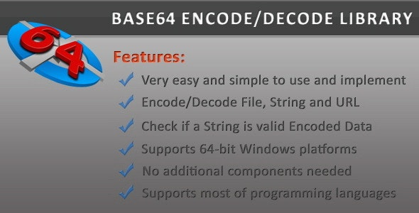 Base64 Encode/Decode DLL Library by beic | CodeCanyon