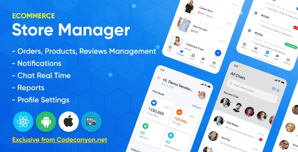 Store Manager - React Native Application for Wordpress Woocomerce. - CodeCanyon Item for Sale