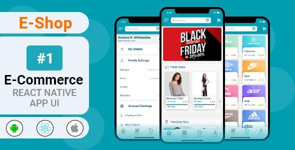 eShop- eCommerce React Native App UI Template