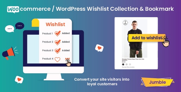 Jumble - WooCommerce / WordPress Wishlist Collection & Bookmark Plugin - CodeCanyon Item for Sale