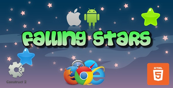 Falling Stars-Casual -HTML5 Game (.Capx) - CodeCanyon Item for Sale