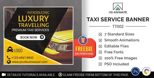 Tour & Travel | Taxi/Cab Service Banner (TT002)