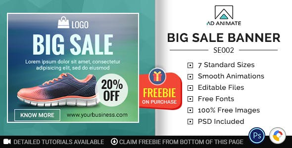 Shopping & E-commerce | Big Sale Banner (SE002)