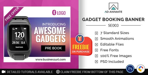 Shopping & E-commerce | Gadget Booking Banner (SE003)