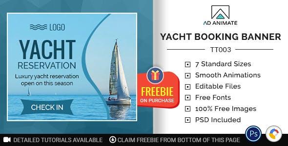 Tour & Travel | Yacht Booking Banner (TT003)