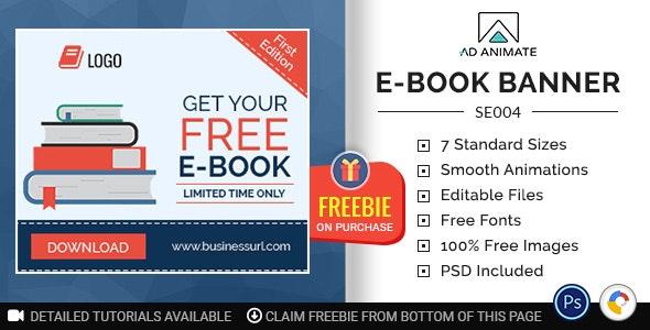 Shopping & E-commerce | E-book Banner (SE004) - CodeCanyon Item for Sale