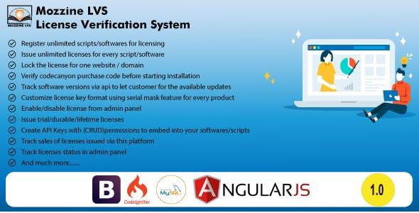PHP License Verification System - Mozzine LVS