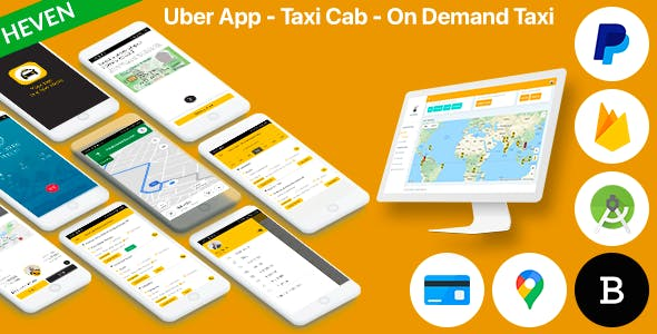 Uber App - Taxi Cab - On Demand Taxi | Android and iOS Complete solution