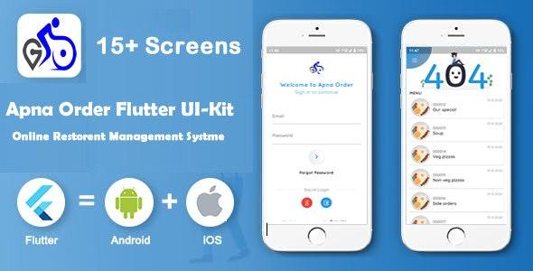 Apna Order- Restaurant App Flutter UI Kit - CodeCanyon Item for Sale