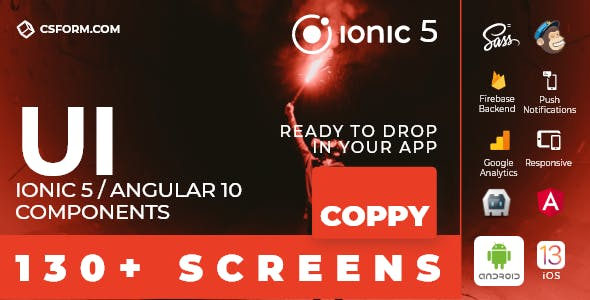 Coppy | Ionic 5 / Angular 10 UI Theme / Template App | Multipurpose Starter App