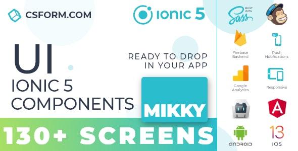 Mikky   Ionic 5 / Angular 10 UI Theme / Template App   Multipurpose Starter App - CodeCanyon Item for Sale