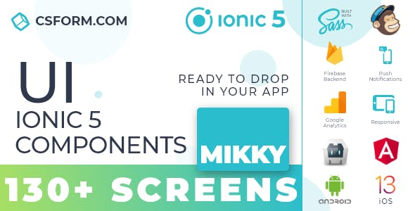 Mikky | Ionic 5 / Angular 10 UI Theme / Template App | Multipurpose Starter App