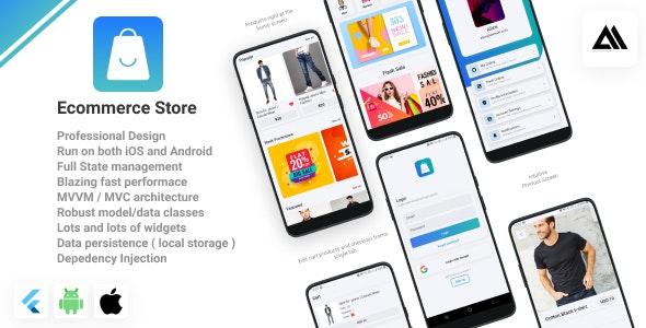 Ecommerce Mobile App - Flutter Mobile App ( E-Commerce ) - CodeCanyon Item for Sale