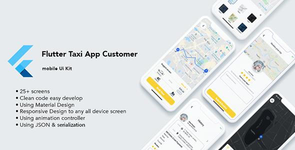 Flutter Taxi App Customer UI KIT