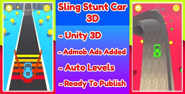 Sling Stunt Car 3D Game Unity Source Code - CodeCanyon Item for Sale