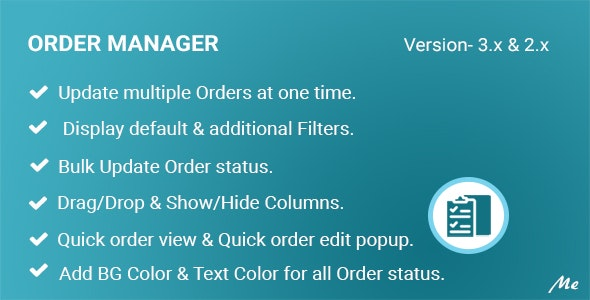 Order Manager - Full Order Management - CodeCanyon Item for Sale