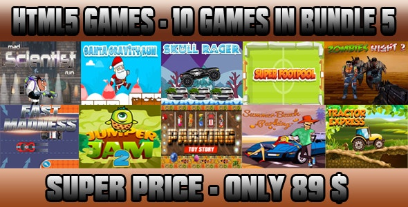 Casual 10 games - Bundle 5 - CodeCanyon Item for Sale