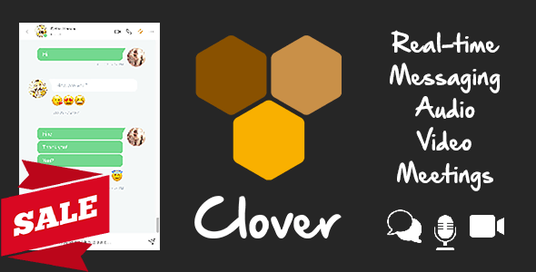 Clover - Real-Time Messaging, Audio & Video Conferencing Web App - Node.js, React, WebRTC, Socket.IO