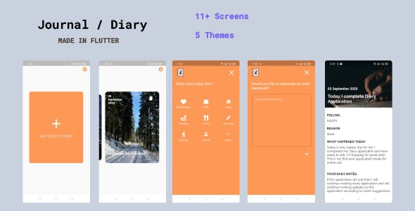 Diary / Journal Application / Notebook in Flutter | Offline Support only