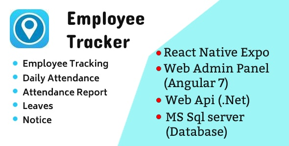 Employee Tracker Mobile App and Web Admin Panel - Source Code