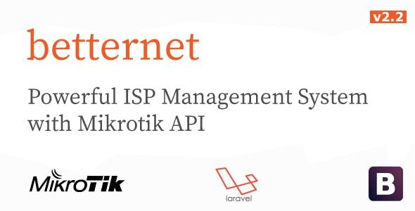 betternet -  ISP Management System with Mikrotik API