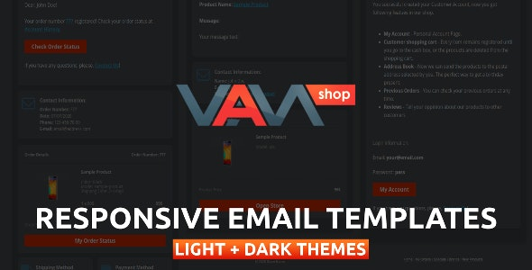 Responsive Email Templates for eCommerce WebSite - CodeCanyon Item for Sale