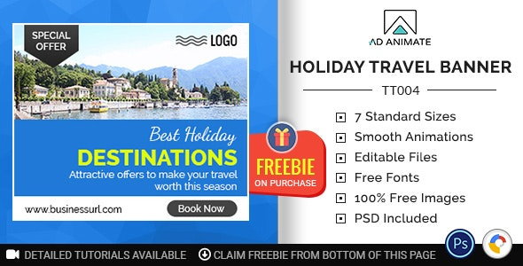 Tour & Travel   Holiday Travel Banner (TT004) - CodeCanyon Item for Sale