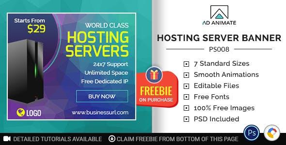 Professional Services | Hosting Server Banner (PS008)
