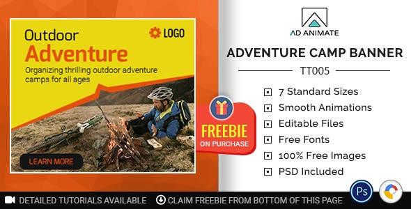 Tour & Travel | Adventure Camp Banner (TT005)