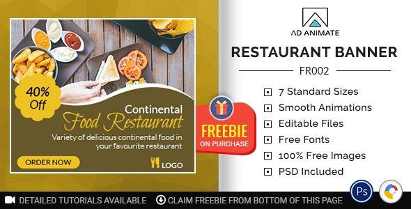 Food & Restaurant | Restaurant Banner (FR002) - CodeCanyon Item for Sale