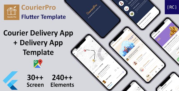 Courier Delivery Flutter App Template | 2 Apps | User App + Delivery App | CourierPro