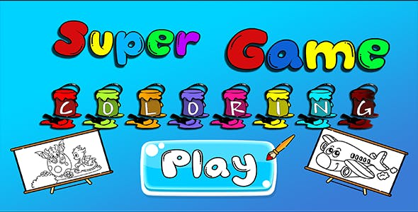 Super Game Coloring - HTML5 Mobile Game