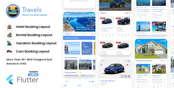 Travel, Hotel and Taxi Booking app template in flutter