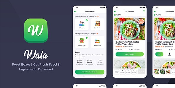 Wala - Food & Delivery React Native App Template - CodeCanyon Item for Sale