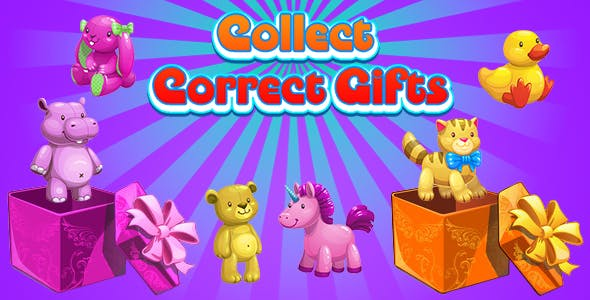 Collect Correct Gifts (CAPX and HTML5) Christmas Game