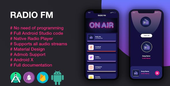 Radio App | Native Android Radio App with AdMob Ads