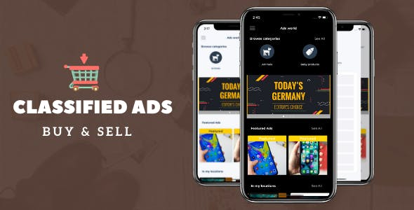 Classified buy sell app with PHP backend and Admin panel (OLX, Offerup, Carousell, Buy Sell clone)