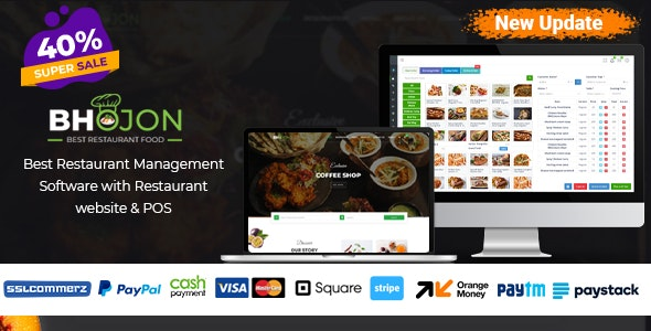 Bhojon - Best Restaurant Management Software with Restaurant Website - CodeCanyon Item for Sale