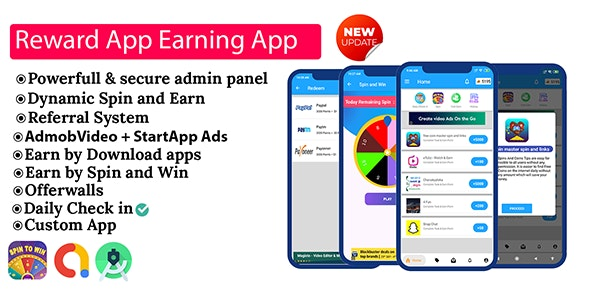 Reward App Lucky Spin + Start App ads - CodeCanyon Item for Sale