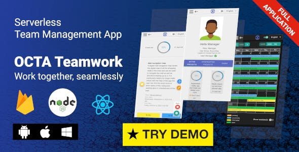 OCTA Teamwork - Firebase Team & Project Management App