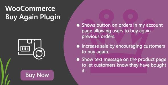 WooCommerce Buy Again Plugin - CodeCanyon Item for Sale