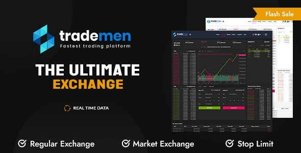 Trademen - Ultimate Exchange, Live Trading, Tradingview, banking, kyc, market exchange - CodeCanyon Item for Sale