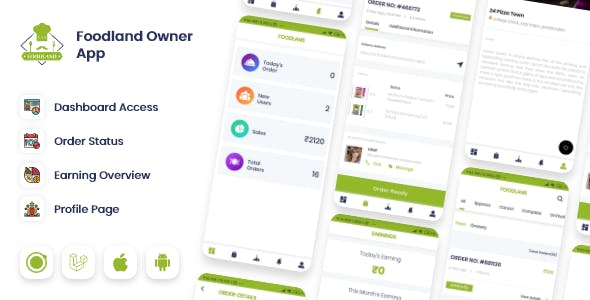 Owner / Vendor for Groceries, Foods, Stores Ionic App
