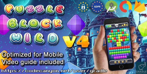 Puzzle Block Wild V4 (Admob + GDPR + Android Studio) - CodeCanyon Item for Sale