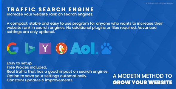 Traffic Search Engine - Increase your site's rank in search engines - CodeCanyon Item for Sale