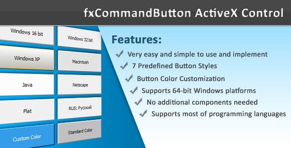 fxCommandButton ActiveX Control - CodeCanyon Item for Sale