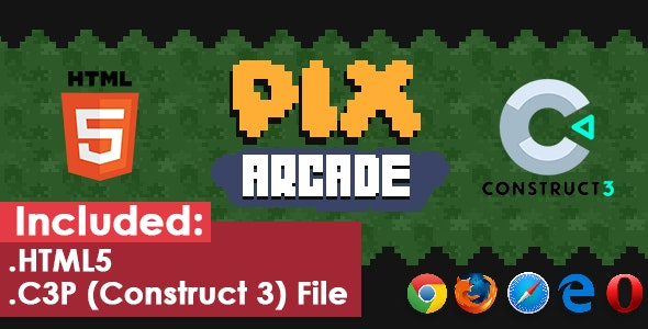 Pix Arcade - HTML5 Game - CodeCanyon Item for Sale