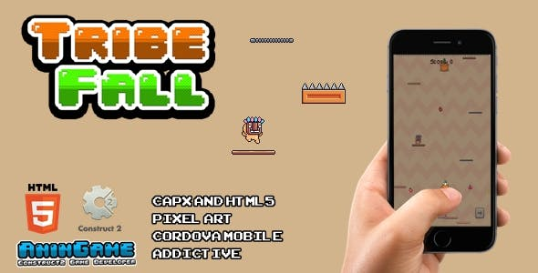 Tribe Fall - HTML5 (Construct2 Game)